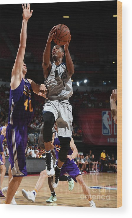 Nba Pro Basketball Wood Print featuring the photograph 2017 Las Vegas Summer League - Dallas by Garrett Ellwood