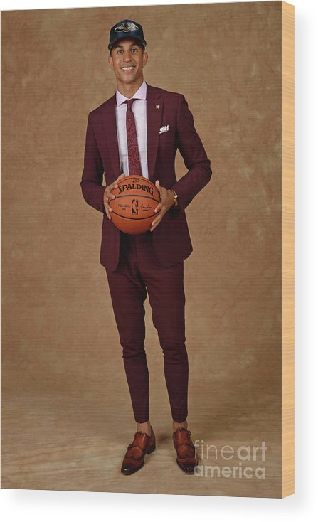 Nba Pro Basketball Wood Print featuring the photograph 2017 Nba Draft by Jennifer Pottheiser