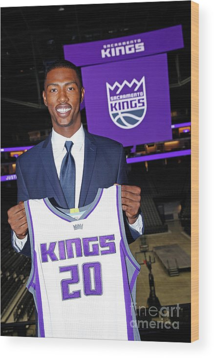 Nba Pro Basketball Wood Print featuring the photograph 2017 Sacramento Kings Draft Picks by Rocky Widner