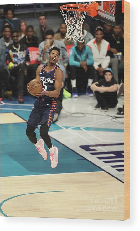 Nba Pro Basketball Wood Print featuring the photograph 2019 At&t Slam Dunk Contest by Kent Smith