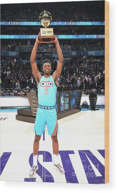 Nba Pro Basketball Wood Print featuring the photograph 2019 At&t Slam Dunk Contest by Nathaniel S. Butler