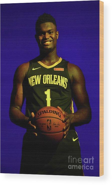 Nba Pro Basketball Wood Print featuring the photograph 2019 Nba Rookie Photo Shoot by Jesse D. Garrabrant