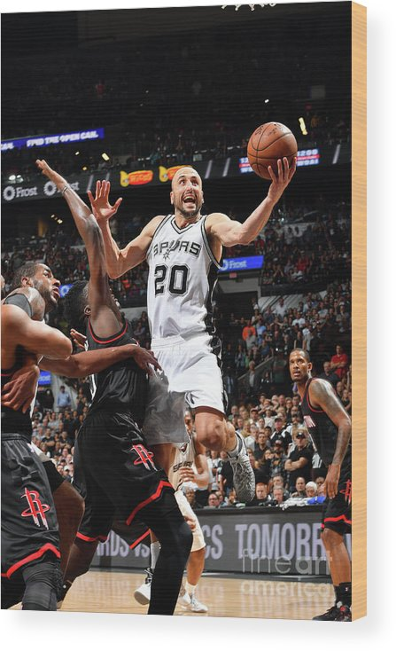 Playoffs Wood Print featuring the photograph Houston Rockets V San Antonio Spurs - by Jesse D. Garrabrant