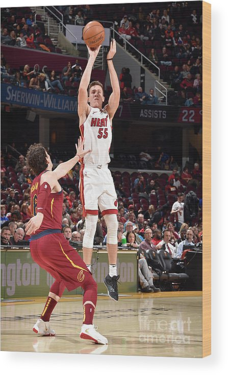 Nba Pro Basketball Wood Print featuring the photograph Miami Heat V Cleveland Cavaliers by David Liam Kyle