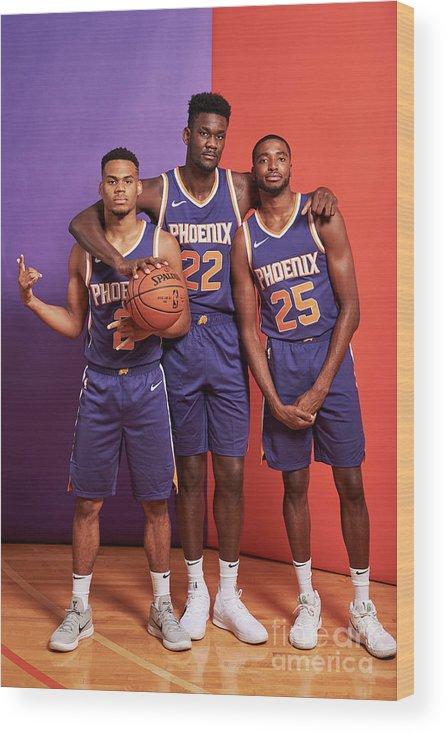 Nba Pro Basketball Wood Print featuring the photograph 2018 Nba Rookie Photo Shoot by Jennifer Pottheiser