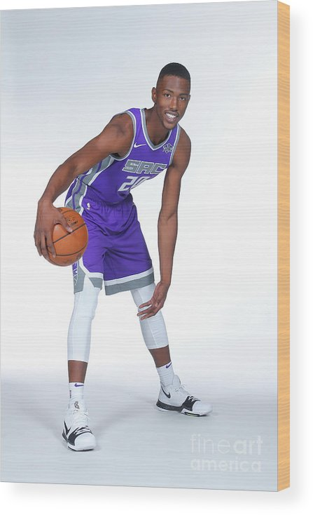Media Day Wood Print featuring the photograph 2017-18 Sacramento Kings Media Day by Rocky Widner