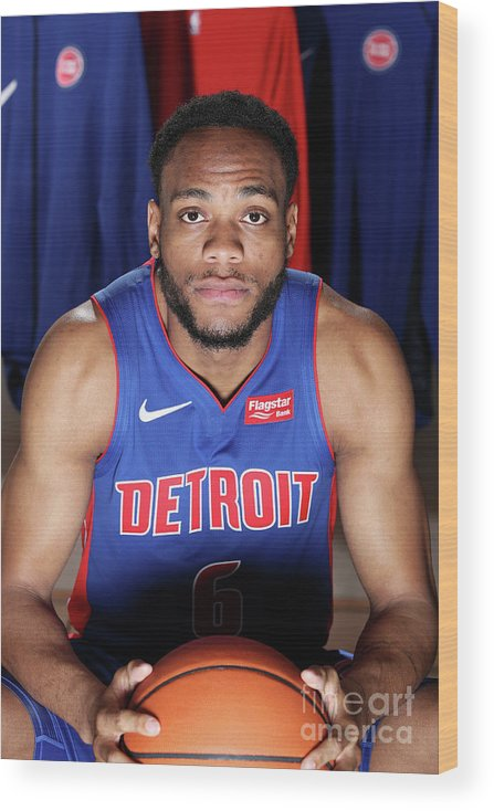 Nba Pro Basketball Wood Print featuring the photograph 2018 Nba Rookie Photo Shoot by Nathaniel S. Butler