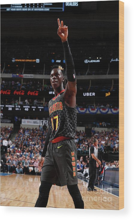 Nba Pro Basketball Wood Print featuring the photograph Atlanta Hawks V Dallas Mavericks by Danny Bollinger