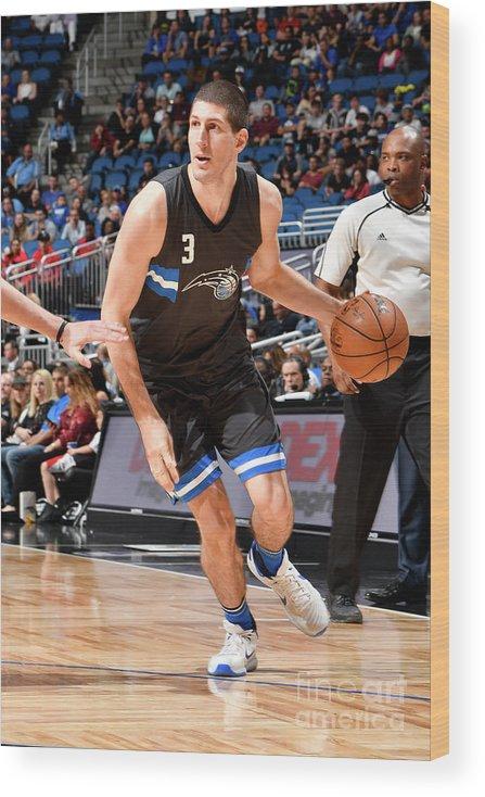 Nba Pro Basketball Wood Print featuring the photograph Atlanta Hawks V Orlando Magic by Fernando Medina