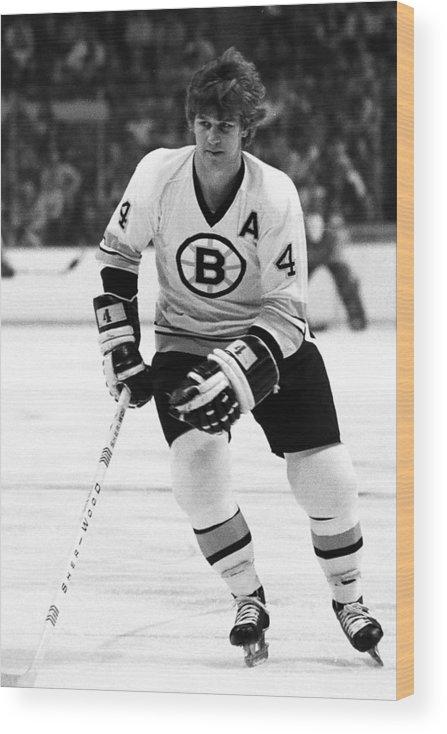 National Hockey League Wood Print featuring the photograph Boston Bruins by Steve Babineau