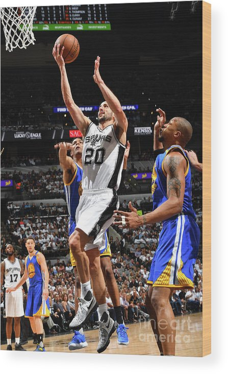 Playoffs Wood Print featuring the photograph Golden State Warriors V San Antonio by Jesse D. Garrabrant