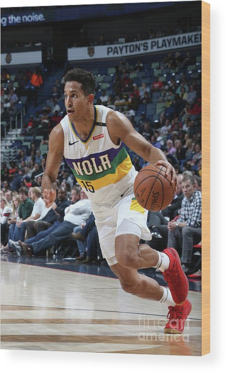 Smoothie King Center Wood Print featuring the photograph Indiana Pacers V New Orleans Pelicans by Layne Murdoch Jr.