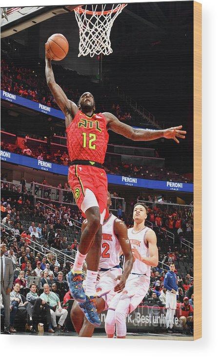 Atlanta Wood Print featuring the photograph New York Knicks V Atlanta Hawks by Scott Cunningham