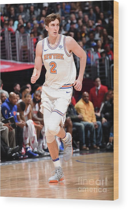 Nba Pro Basketball Wood Print featuring the photograph New York Knicks V La Clippers by Andrew D. Bernstein