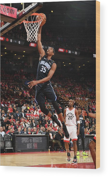 Playoffs Wood Print featuring the photograph Orlando Magic V Toronto Raptors - Game by Ron Turenne