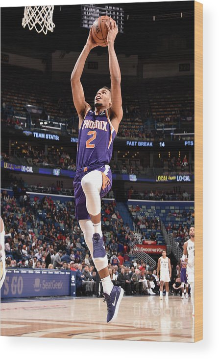 Smoothie King Center Wood Print featuring the photograph Phoenix Suns V New Orleans Pelicans by Bill Baptist