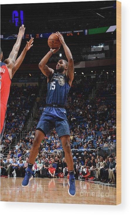 Nba Pro Basketball Wood Print featuring the photograph Washington Wizards V Orlando Magic by Fernando Medina