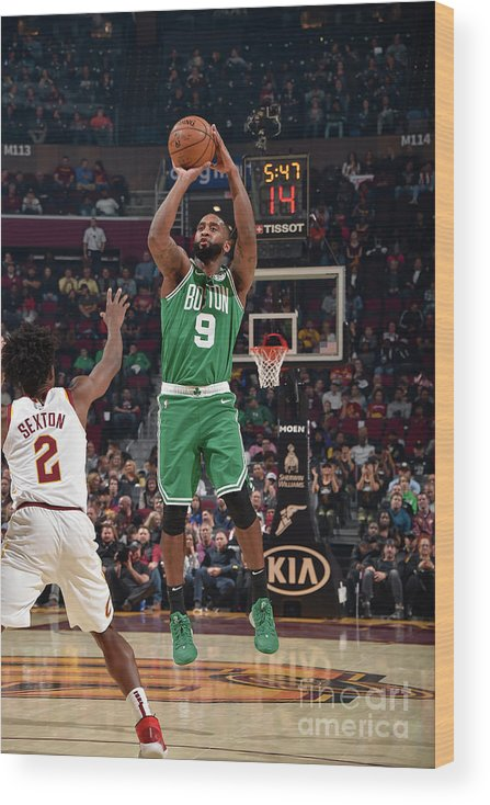 Nba Pro Basketball Wood Print featuring the photograph Boston Celtics V Cleveland Cavaliers by David Liam Kyle