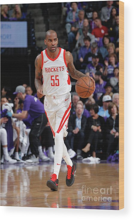Nba Pro Basketball Wood Print featuring the photograph Houston Rockets V Sacramento Kings by Rocky Widner