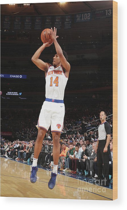 Event Wood Print featuring the photograph Atlanta Hawks V New York Knicks by Nathaniel S. Butler