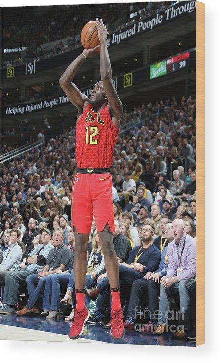 Nba Pro Basketball Wood Print featuring the photograph Atlanta Hawks V Utah Jazz by Melissa Majchrzak