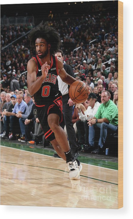 Coby White Wood Print featuring the photograph Chicago Bulls V Milwaukee Bucks by Gary Dineen