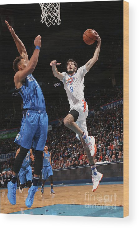 Nba Pro Basketball Wood Print featuring the photograph Dallas Mavericks V Oklahoma City Thunder by Layne Murdoch