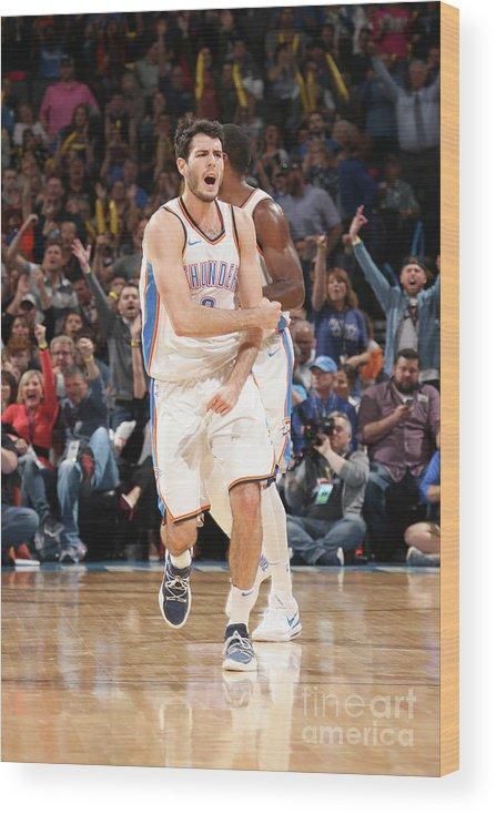 Basketball Wood Print featuring the photograph Denver Nuggets V Oklahoma City Thunder by Layne Murdoch