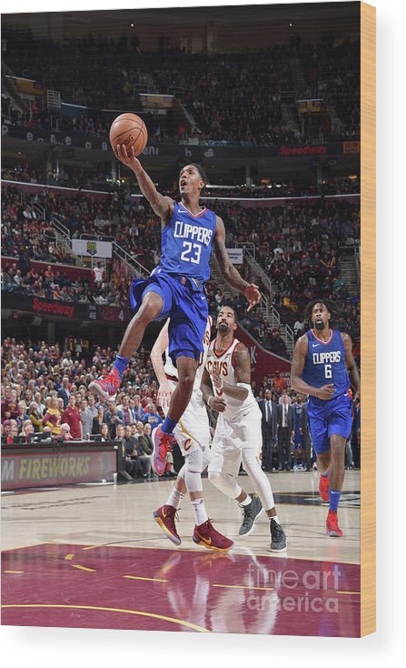 Nba Pro Basketball Wood Print featuring the photograph La Clippers V Cleveland Cavaliers by David Liam Kyle