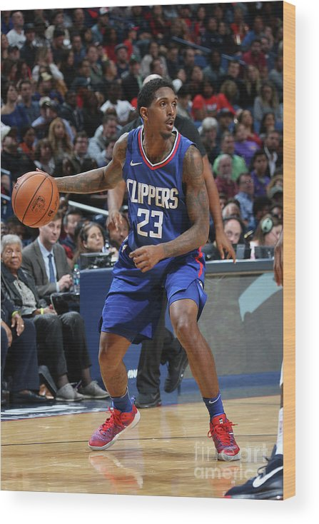 Smoothie King Center Wood Print featuring the photograph La Clippers V New Orleans Pelicans by Layne Murdoch