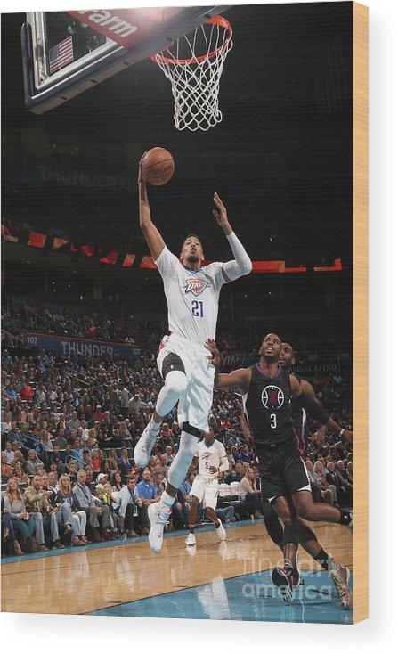 Nba Pro Basketball Wood Print featuring the photograph La Clippers V Oklahoma City Thunder by Layne Murdoch