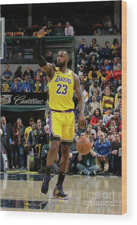 Nba Pro Basketball Wood Print featuring the photograph Lebron James by Ron Hoskins