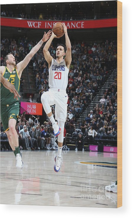 Nba Pro Basketball Wood Print featuring the photograph Los Angeles Clippers V Utah Jazz by Melissa Majchrzak
