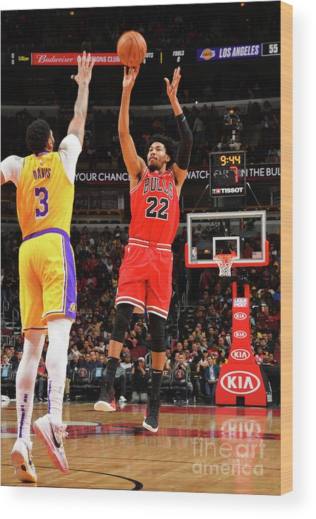 Chicago Bulls Wood Print featuring the photograph Los Angeles Lakers V Chicago Bulls by Jesse D. Garrabrant