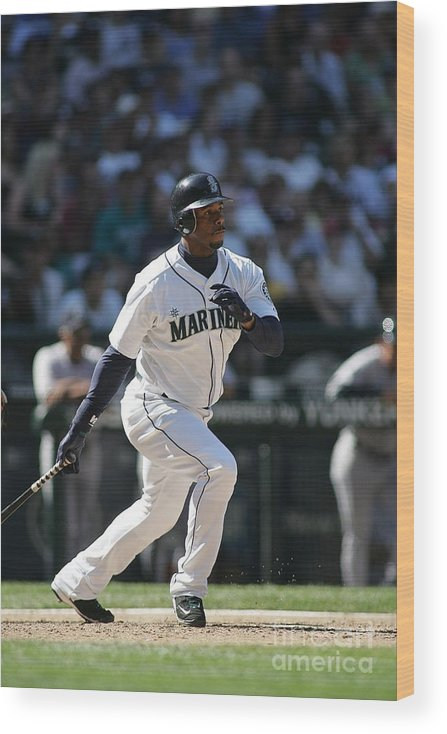 People Wood Print featuring the photograph New York Yankees V Seattle Mariners by Rob Leiter