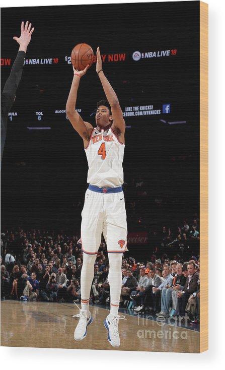 Nba Pro Basketball Wood Print featuring the photograph Orlando Magic V New York Knicks by Nathaniel S. Butler