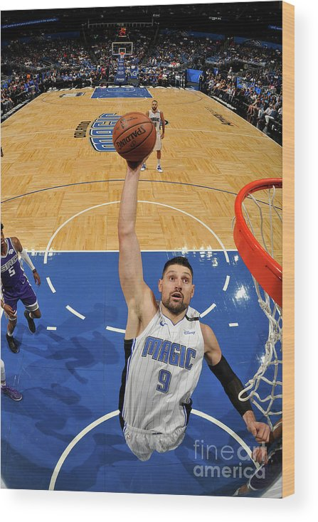 Nba Pro Basketball Wood Print featuring the photograph Sacramento Kings V Orlando Magic by Fernando Medina