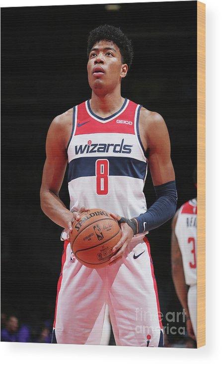 Nba Pro Basketball Wood Print featuring the photograph Sacramento Kings V Washington Wizards by Ned Dishman