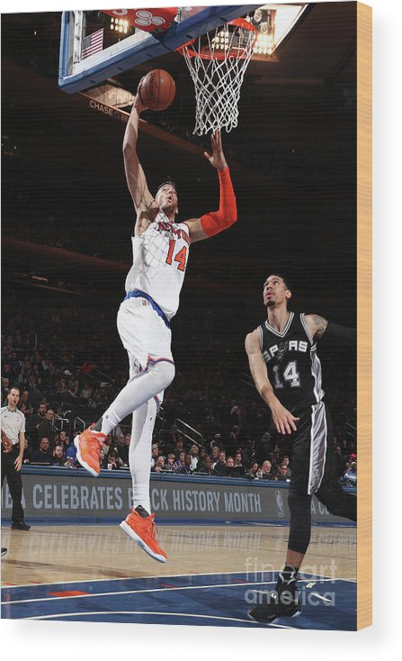Guillermo Hernangómez Geuer Wood Print featuring the photograph San Antonio Spurs V New York Knicks by Nathaniel S. Butler