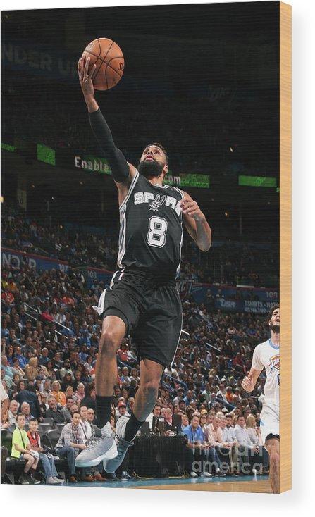 Nba Pro Basketball Wood Print featuring the photograph San Antonio Spurs V Oklahoma City by Layne Murdoch