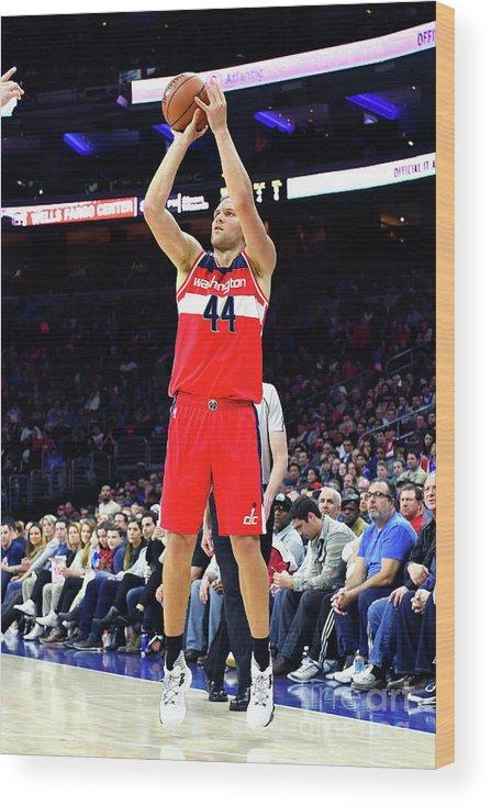 Nba Pro Basketball Wood Print featuring the photograph Washington Wizards V Philadelphia 76ers by Jesse D. Garrabrant