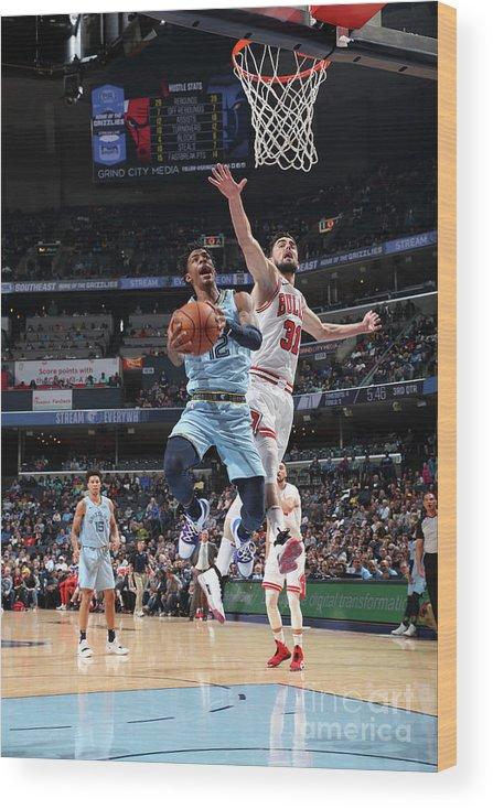 Nba Pro Basketball Wood Print featuring the photograph Chicago Bulls V Memphis Grizzlies by Joe Murphy