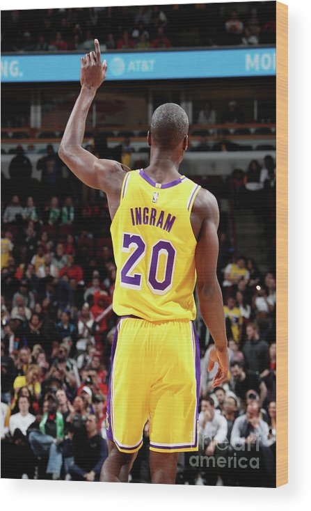 Andre Ingram Wood Print featuring the photograph Los Angeles Lakers V Chicago Bulls by Nathaniel S. Butler