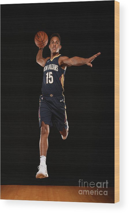 Nba Pro Basketball Wood Print featuring the photograph 2017 Nba Rookie Photo Shoot by Brian Babineau