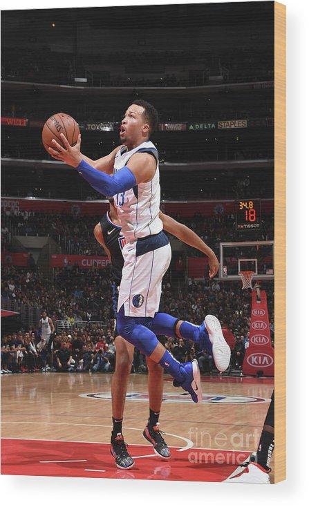 Nba Pro Basketball Wood Print featuring the photograph Dallas Mavericks V La Clippers by Adam Pantozzi