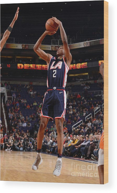 Nba Pro Basketball Wood Print featuring the photograph Los Angeles Clippers V Phoenix Suns by Barry Gossage