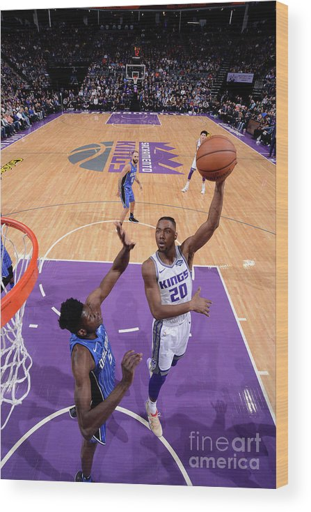 Nba Pro Basketball Wood Print featuring the photograph Orlando Magic V Sacramento Kings by Rocky Widner