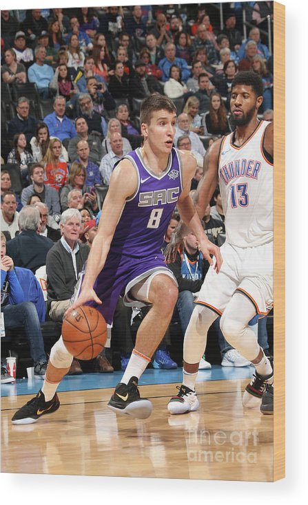 Nba Pro Basketball Wood Print featuring the photograph Sacramento Kings V Oklahoma City Thunder by Layne Murdoch
