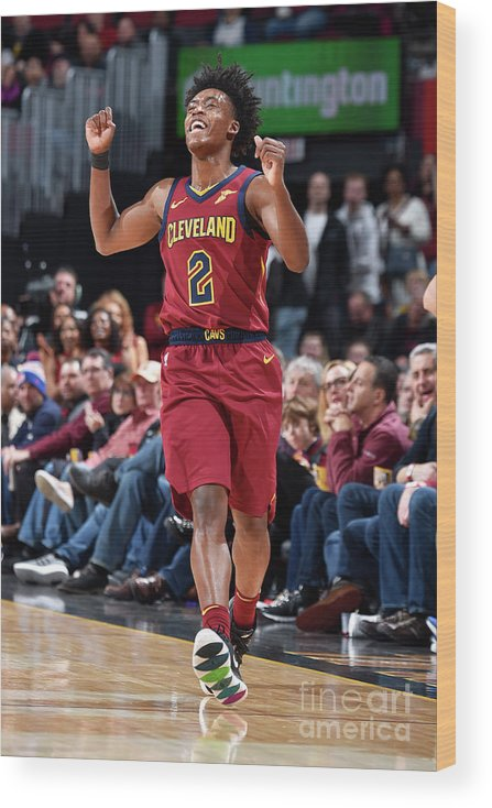 Nba Pro Basketball Wood Print featuring the photograph Indiana Pacers V Cleveland Cavaliers by David Liam Kyle