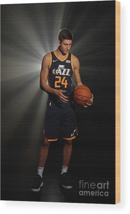 Nba Pro Basketball Wood Print featuring the photograph 2018 Nba Rookie Photo Shoot by Jesse D. Garrabrant